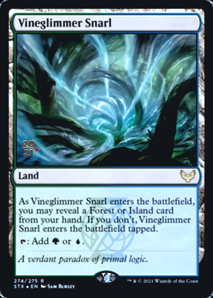 Vineglimmer Snarl card from Prerelease Cards