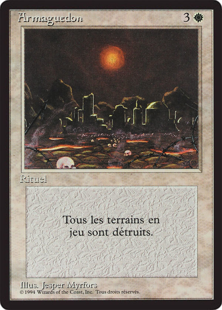 Armageddon card from Revised Edition (Foreign Black Border)