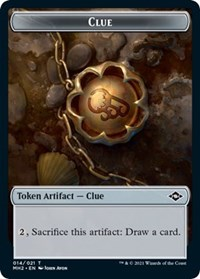 Clue (014) // Zombie Double-sided Token card from Modern Horizons 2