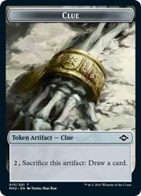 Clue (015) // Bird Double-sided Token card from Modern Horizons 2