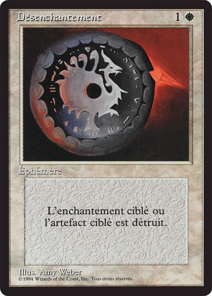 Disenchant card from Revised Edition (Foreign Black Border)