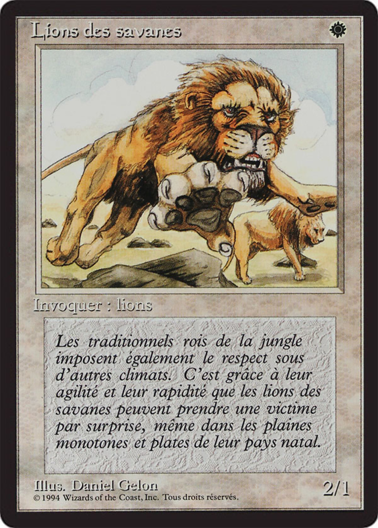 Savannah Lions card from Revised Edition (Foreign Black Border)