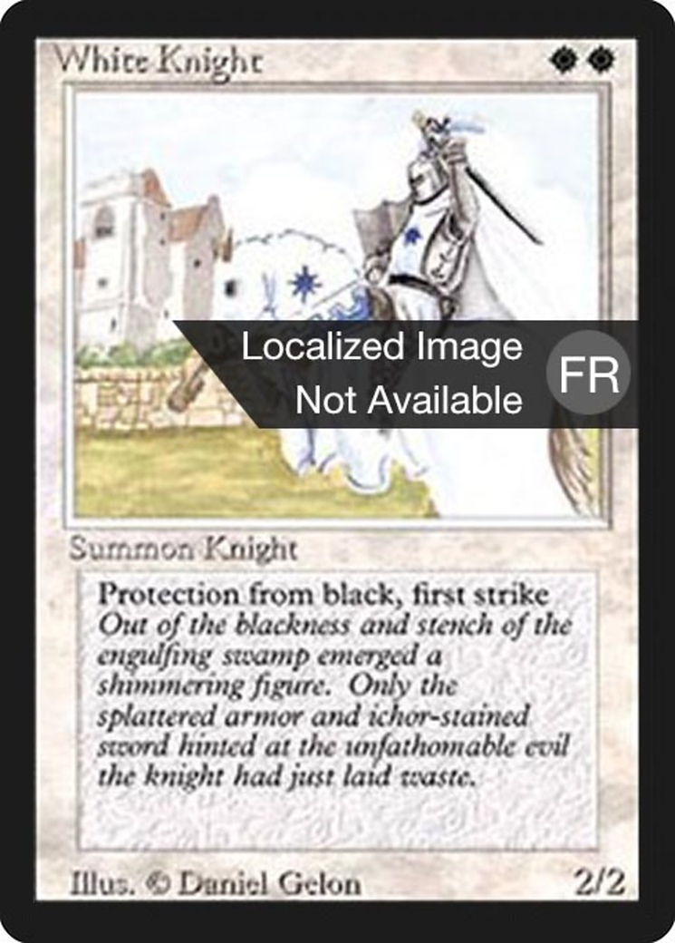 White Knight card from Revised Edition (Foreign Black Border)