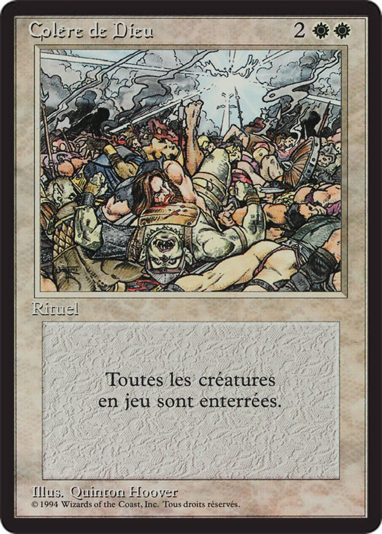 Wrath of God card from Revised Edition (Foreign Black Border)