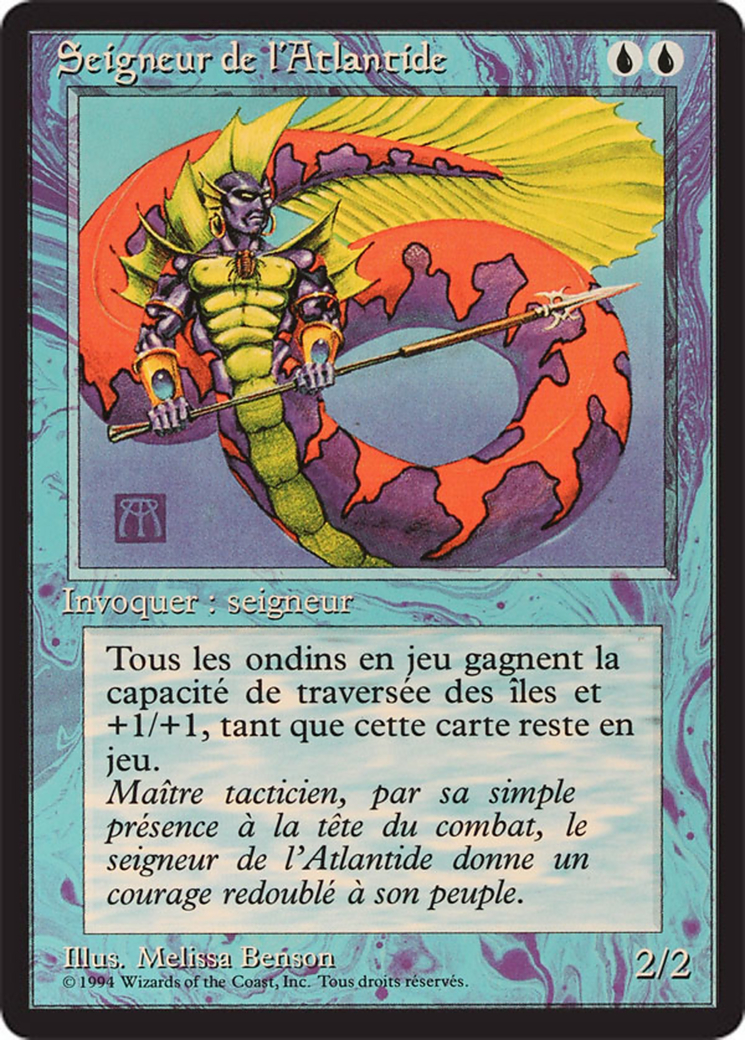 Lord of Atlantis card from Revised Edition (Foreign Black Border)