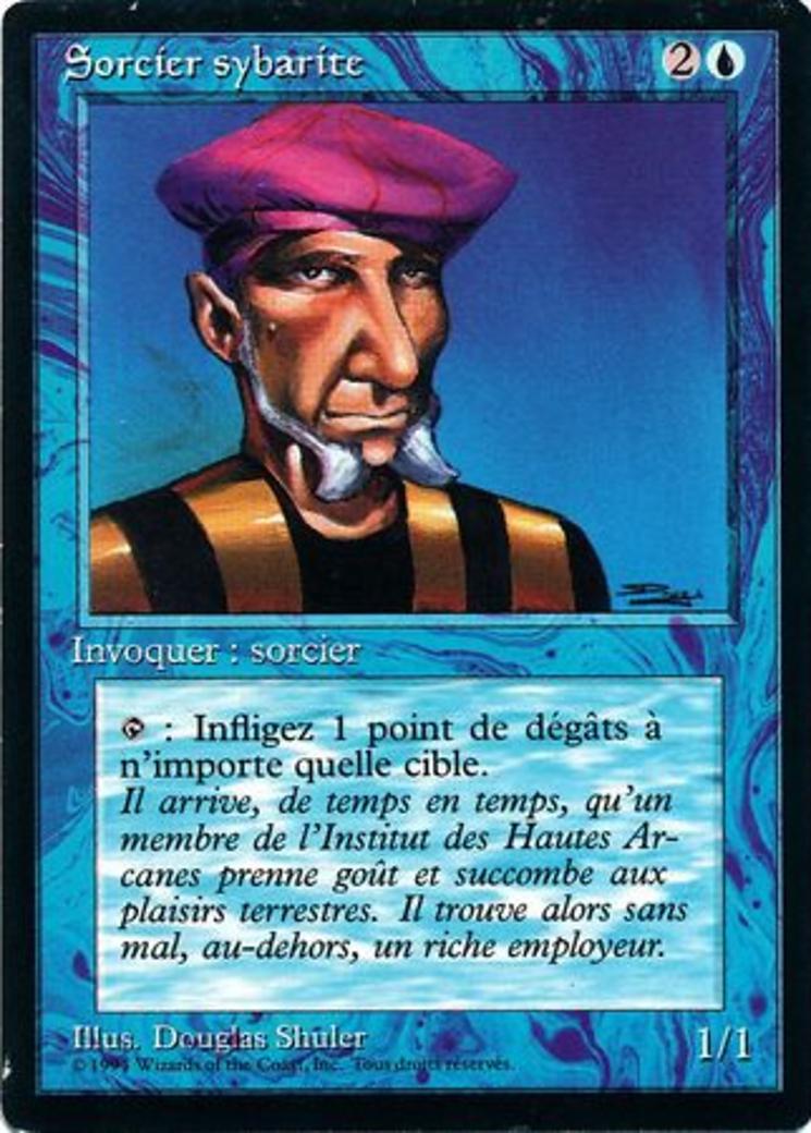 Prodigal Sorcerer card from Revised Edition (Foreign Black Border)