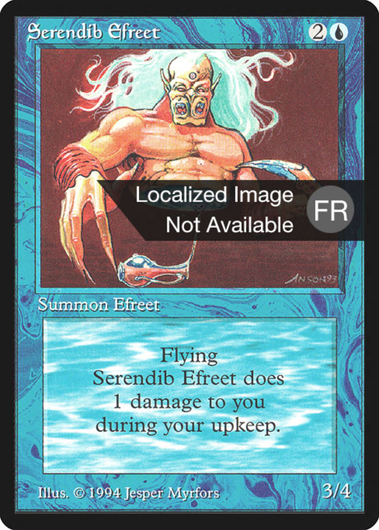 Serendib Efreet card from Revised Edition (Foreign Black Border)