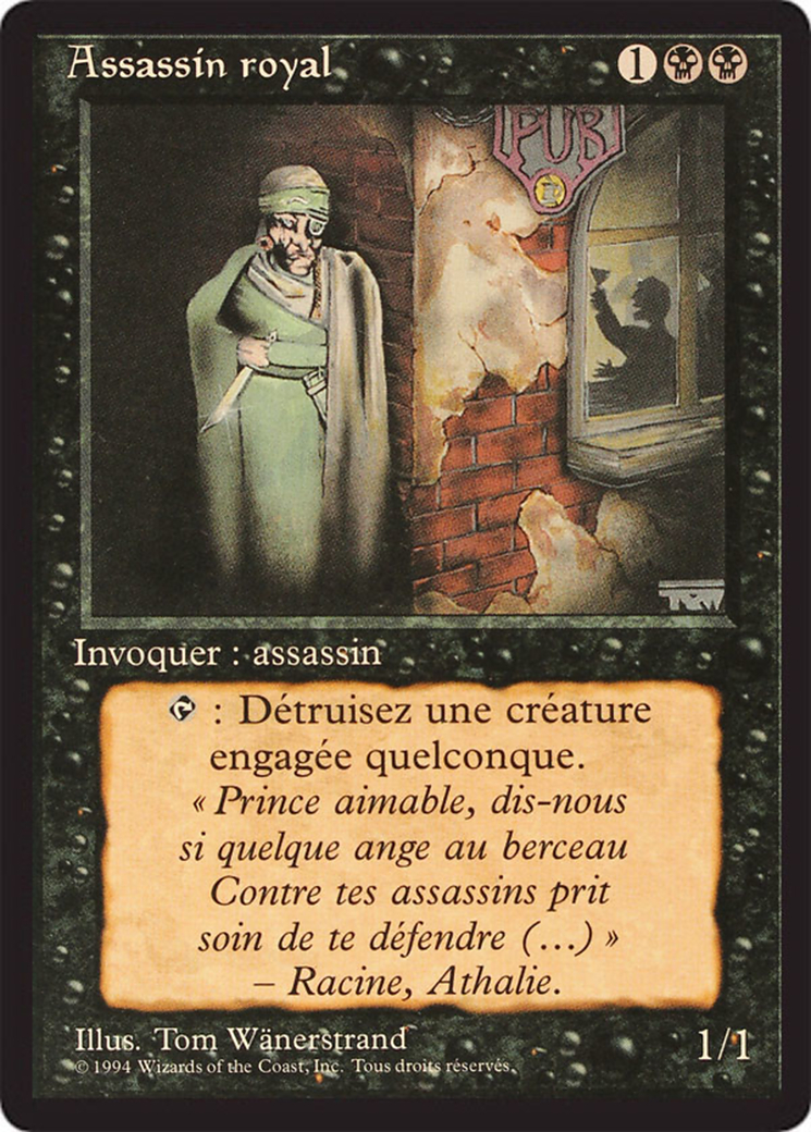Royal Assassin card from Revised Edition (Foreign Black Border)