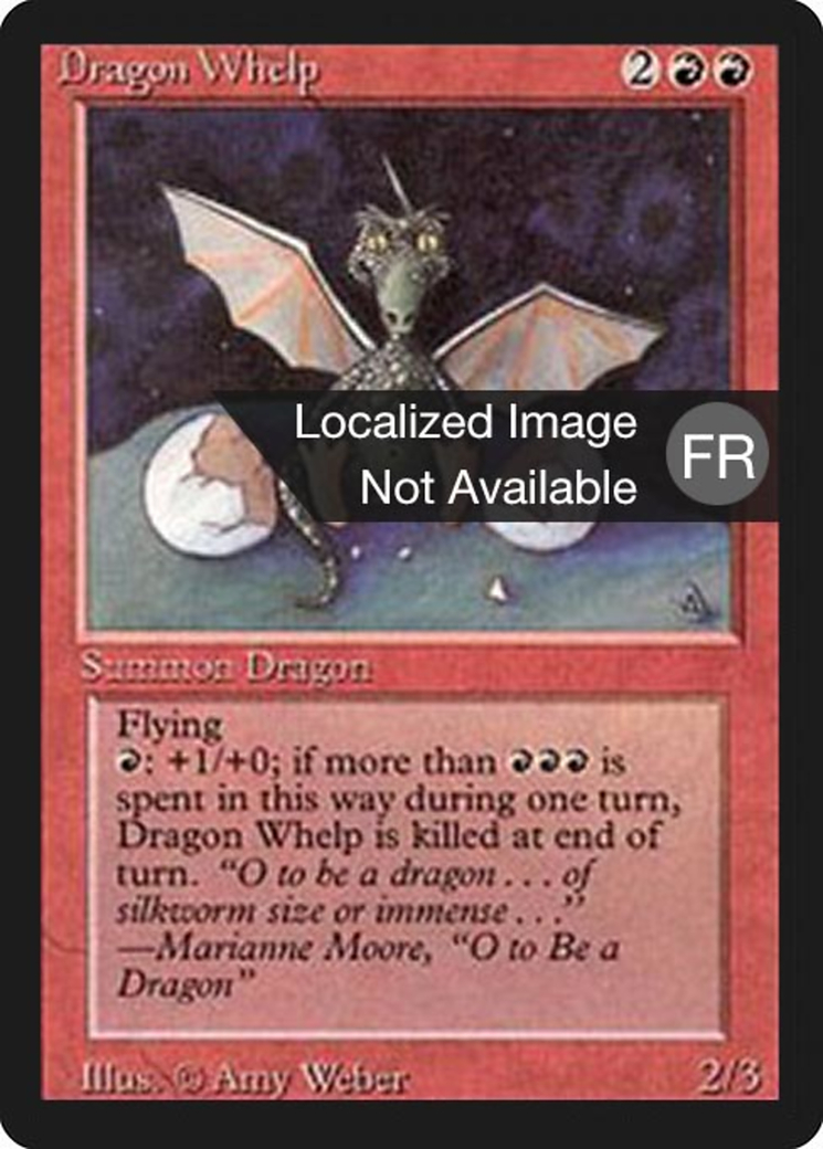 Dragon Whelp card from Revised Edition (Foreign Black Border)