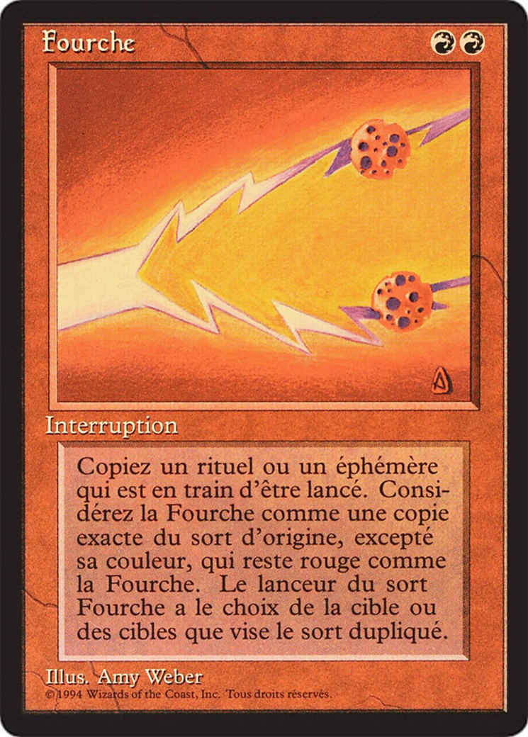Fork card from Revised Edition (Foreign Black Border)