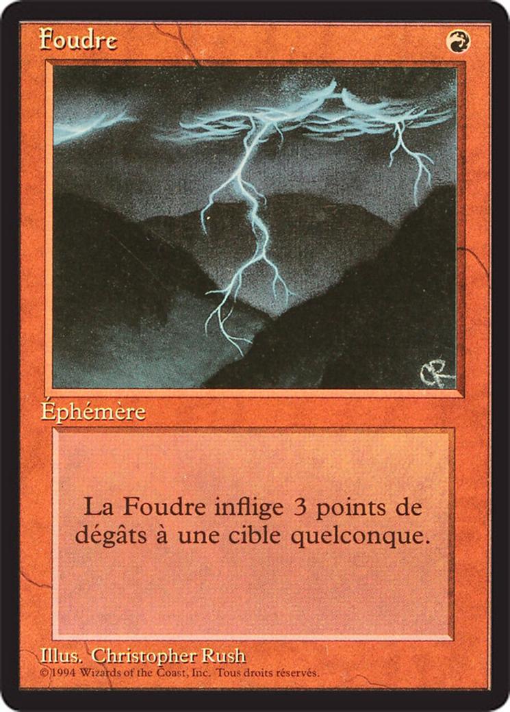 Lightning Bolt card from Revised Edition (Foreign Black Border)