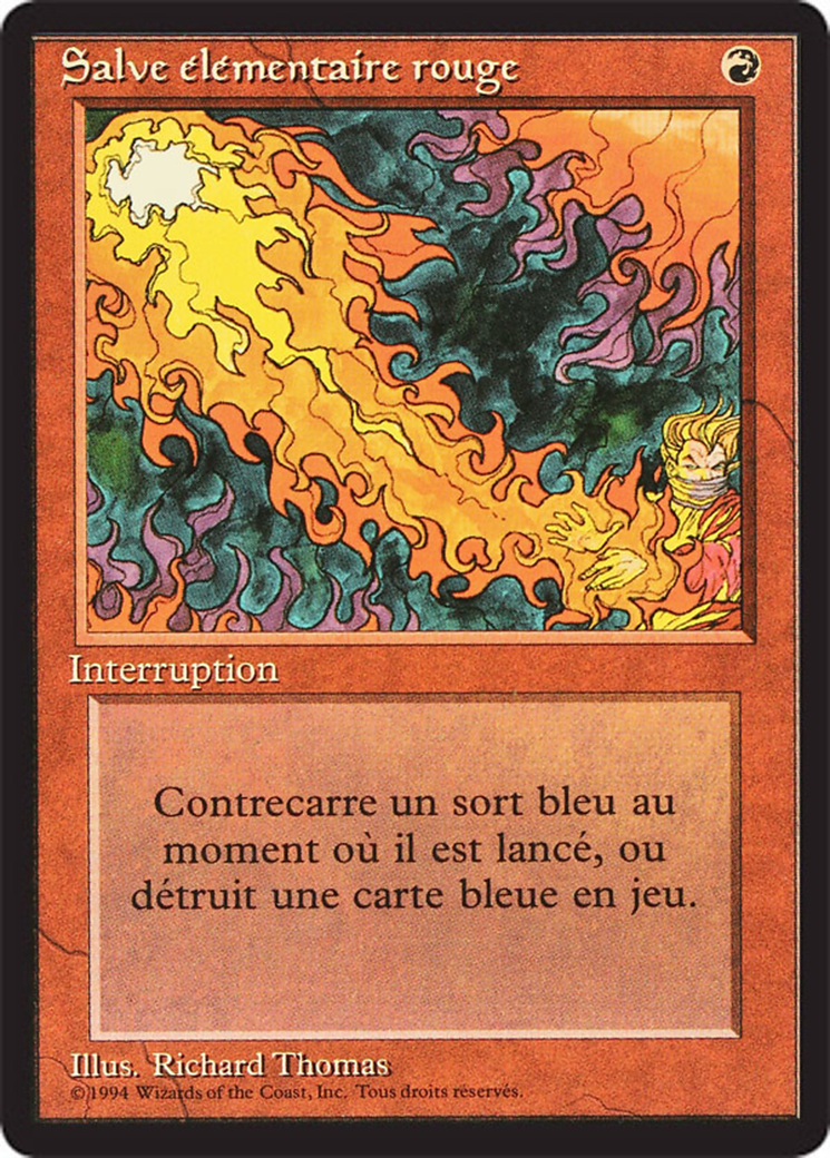 Red Elemental Blast card from Revised Edition (Foreign Black Border)