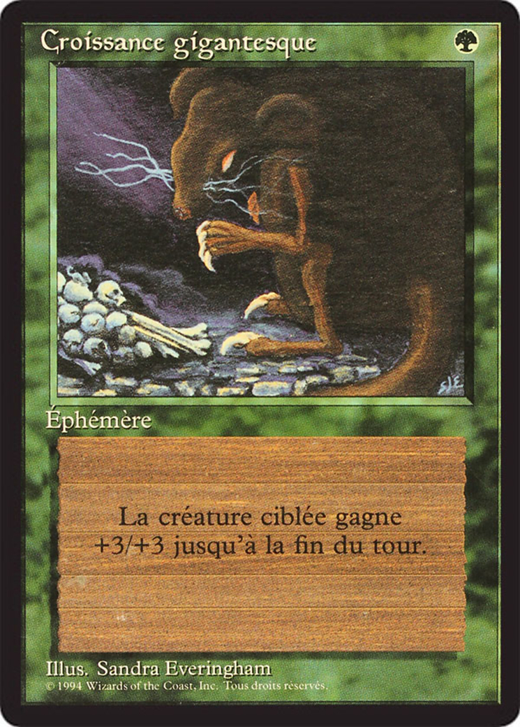 Giant Growth card from Revised Edition (Foreign Black Border)