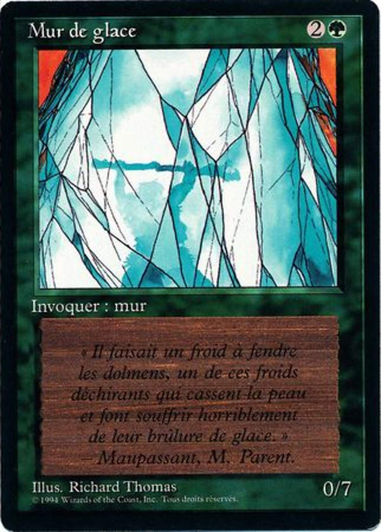 Wall of Ice card from Revised Edition (Foreign Black Border)