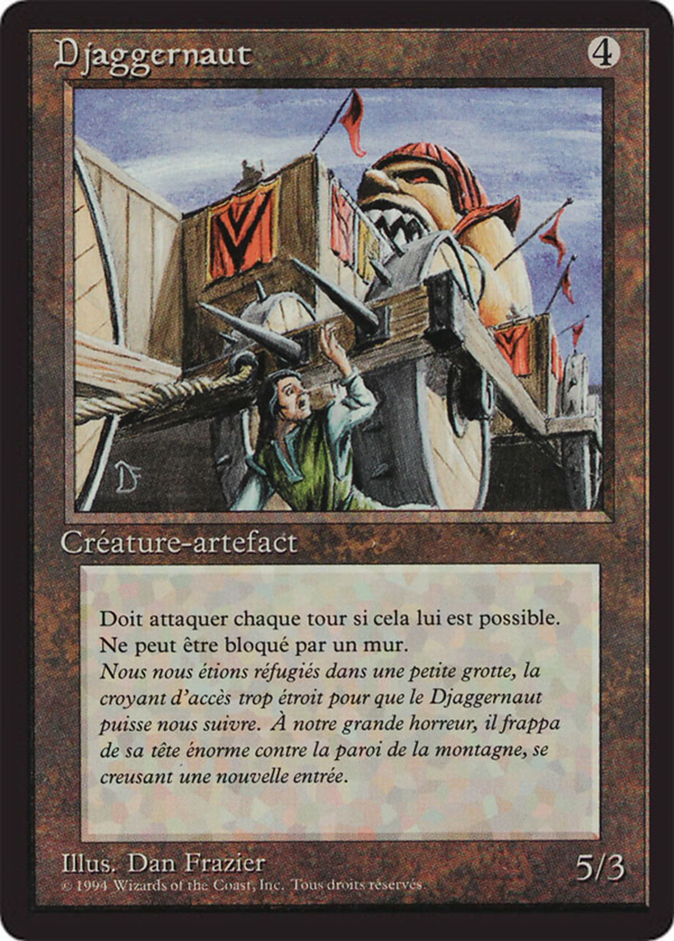 Juggernaut card from Revised Edition (Foreign Black Border)