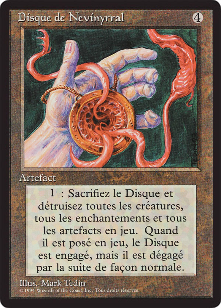 Nevinyrral's Disk card from Revised Edition (Foreign Black Border)