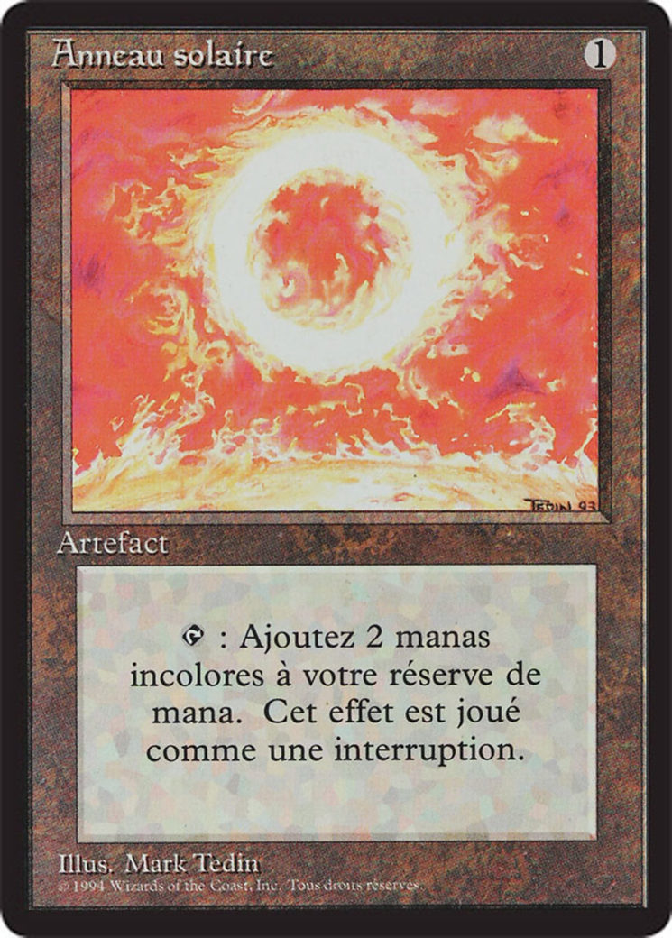 Sol Ring card from Revised Edition (Foreign Black Border)
