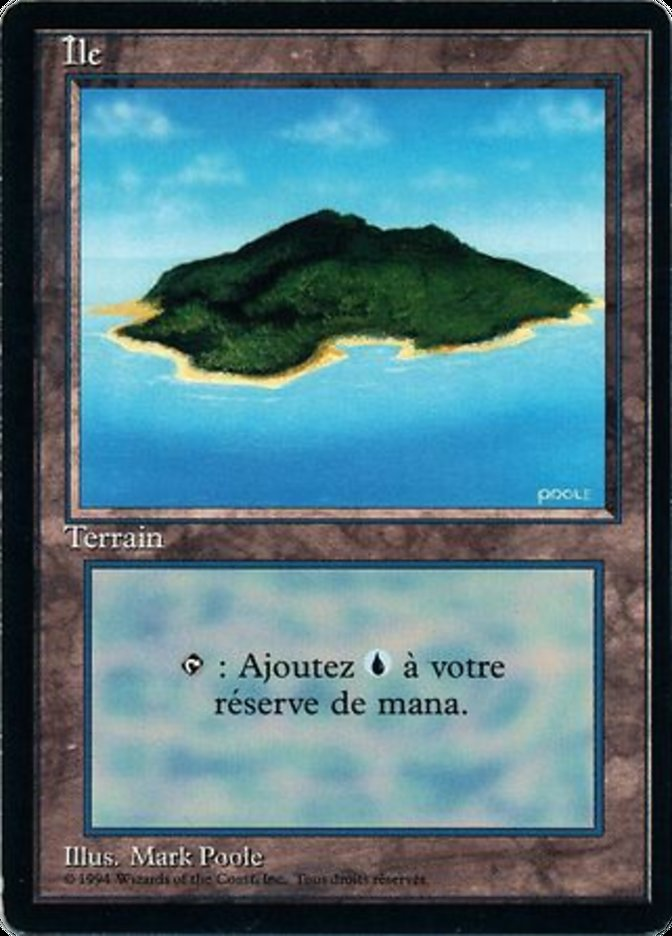 Island (B) card from Revised Edition (Foreign Black Border)