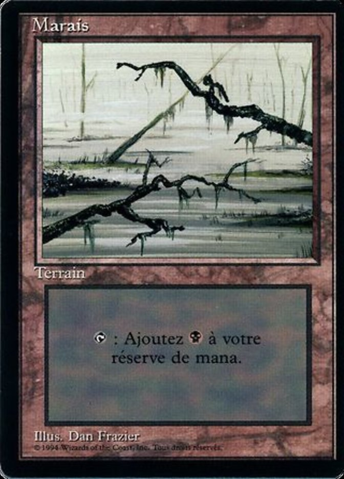 Swamp (C) card from Revised Edition (Foreign Black Border)