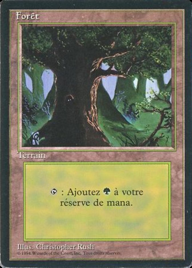 Forest (C) card from Revised Edition (Foreign Black Border)