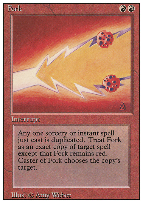 Fork card from Revised Edition