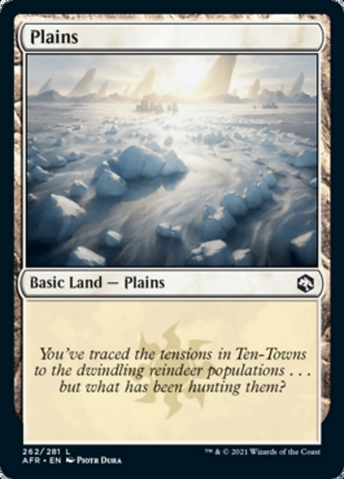 Plains (262) card from Adventures in the Forgotten Realms
