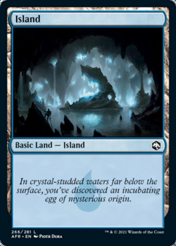 Island (266) card from Adventures in the Forgotten Realms