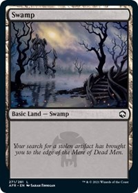 Swamp (271) card from Adventures in the Forgotten Realms