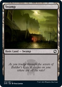 Swamp (272) card from Adventures in the Forgotten Realms