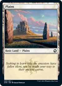 Plains (263) card from Adventures in the Forgotten Realms