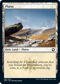 Plains (264) card from Adventures in the Forgotten Realms