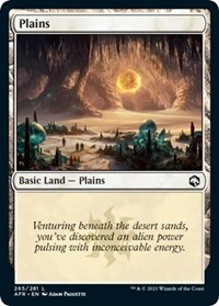 Plains (265) card from Adventures in the Forgotten Realms