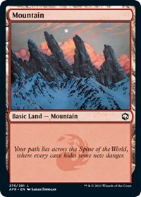 Mountain (275) card from Adventures in the Forgotten Realms