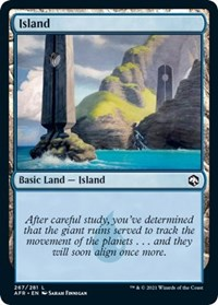Island (267) card from Adventures in the Forgotten Realms