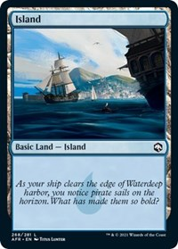 Island (268) card from Adventures in the Forgotten Realms