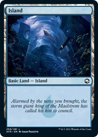 Island (269) card from Adventures in the Forgotten Realms