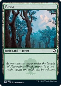 Forest (279) card from Adventures in the Forgotten Realms