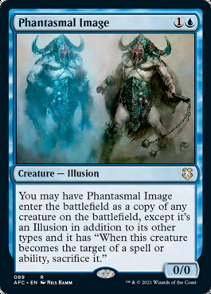 Phantasmal Image card from Forgotten Realms Commander