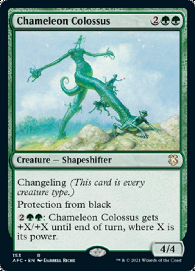 Chameleon Colossus card from Forgotten Realms Commander