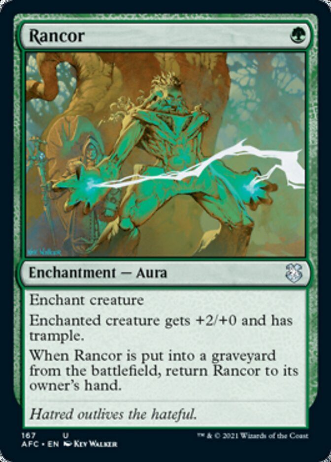 Rancor card from Forgotten Realms Commander