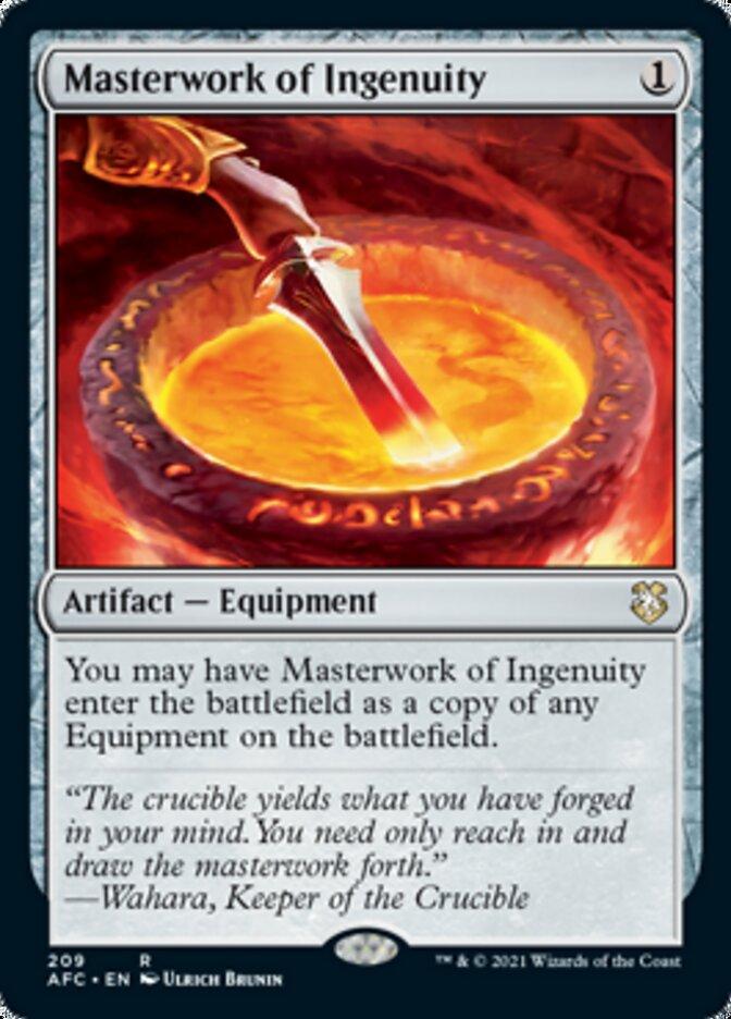 Masterwork of Ingenuity card from Forgotten Realms Commander