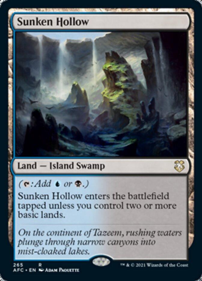 Sunken Hollow card from Forgotten Realms Commander