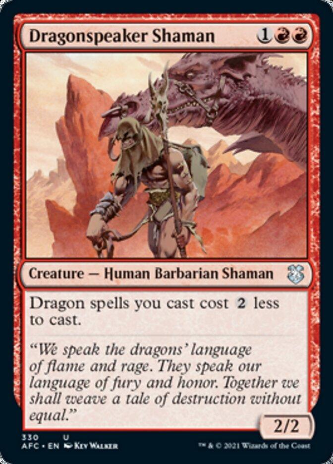 Dragonspeaker Shaman card from Forgotten Realms Commander