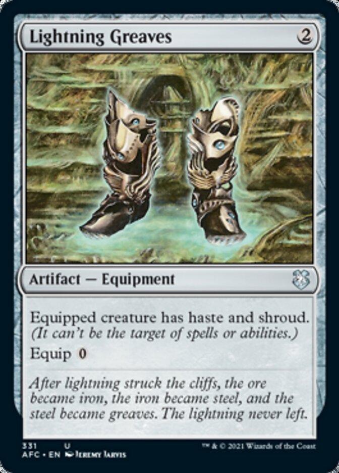 Lightning Greaves card from Forgotten Realms Commander