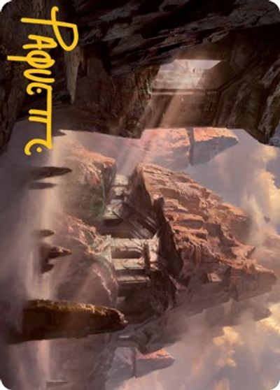 Mountain (277) Art Card (Gold-Stamped Signature) card from Adventures in the Forgotten Realms Art Series