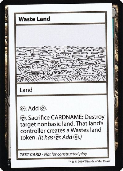 Waste Land (No PW Symbol) card from Mystery Booster Playtest Cards
