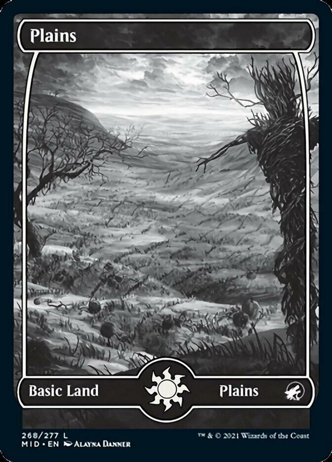 Plains (268) card from Innistrad: Midnight Hunt