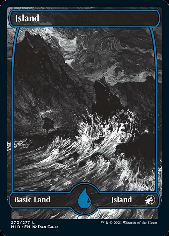 Island (270) card from Innistrad: Midnight Hunt
