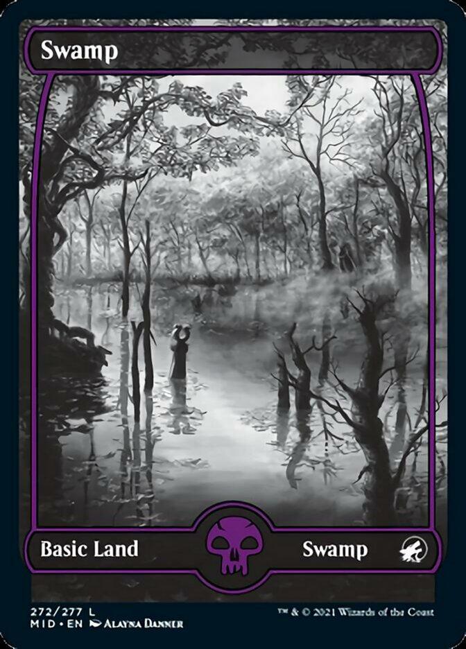Swamp (272) card from Innistrad: Midnight Hunt