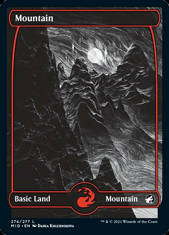 Mountain (274) card from Innistrad: Midnight Hunt